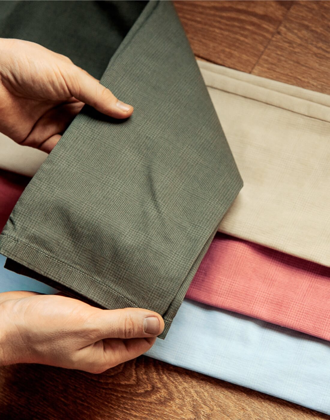 CHINOS READY-TO-WEAR alebo MADE-TO-MEASURE